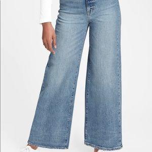 Gap denim wide leg sky high tall jeans women 29/8T